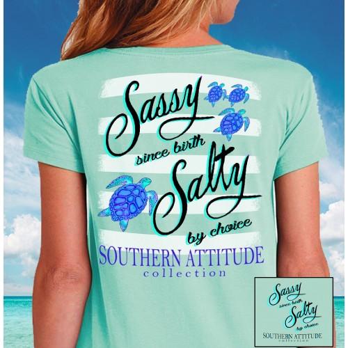 Sassy Since Birth Salty by Choice Sea Turtle Tee