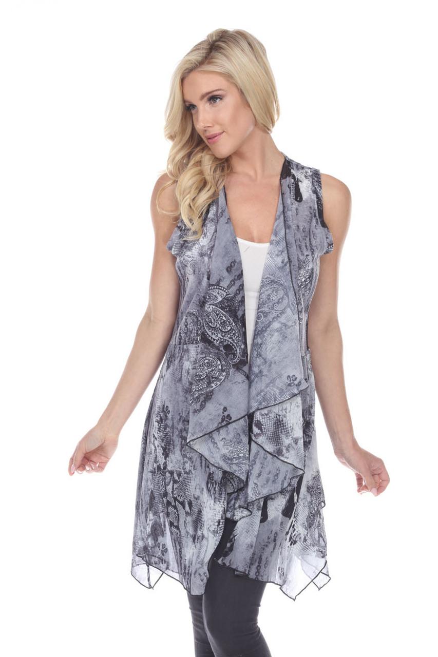 Grey Flowy Vest