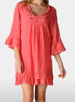 Crochet Ruffle Dress/Tunic