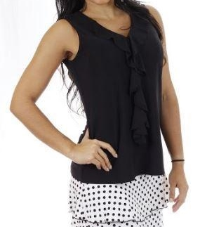 Ruffle Front V Neck Tank Top