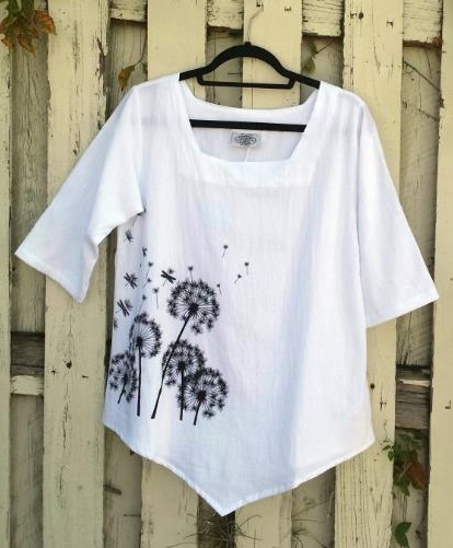 Black and White Cotton Dandelion Top