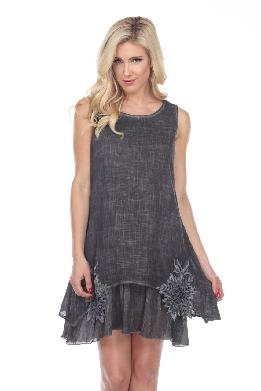 Sleeveless Lace Tunic Dress