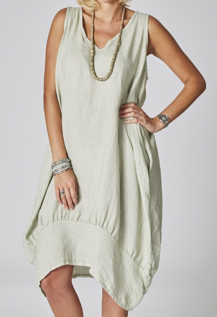 CUTE Sleeveless Linen Dress