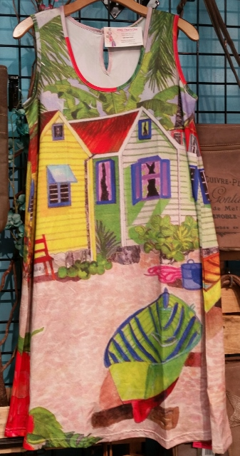 Beach Hut Scene Dress - UPF 50+