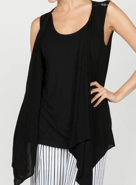 Sleeveless Two-Fer Top