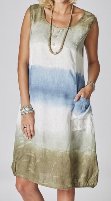 Sleeveless Linen Detailed Dress