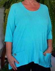 Aqua Cotton Tunic Top