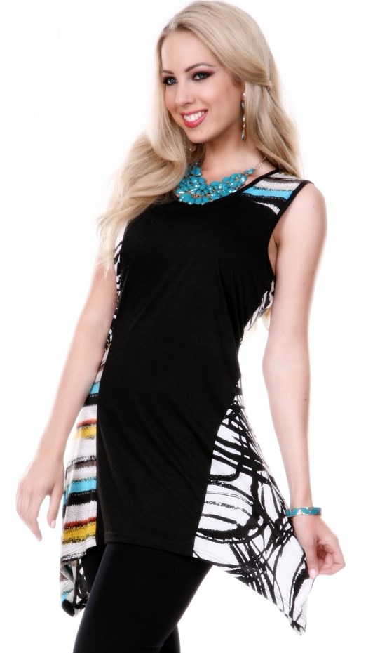 Black Tunic with that Splash of Color