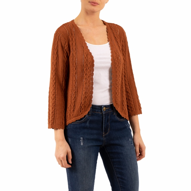 BEAUTIFUL Cable Knit Sweater Cardigan