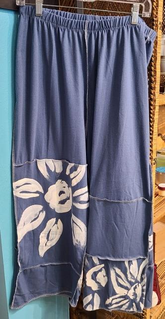 Artist Big Flower Beach Pants