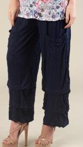 2 Pocket Tiered Crinkle Pant