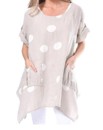 Polka Dot Linen Dress or Tunic