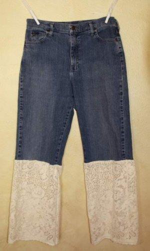 Jeans with Vintage Quaker Lace