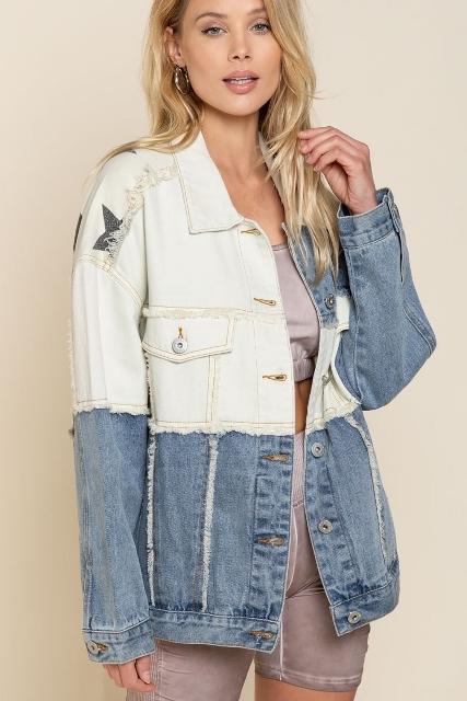 Denim and Stars Oversized Jacket
