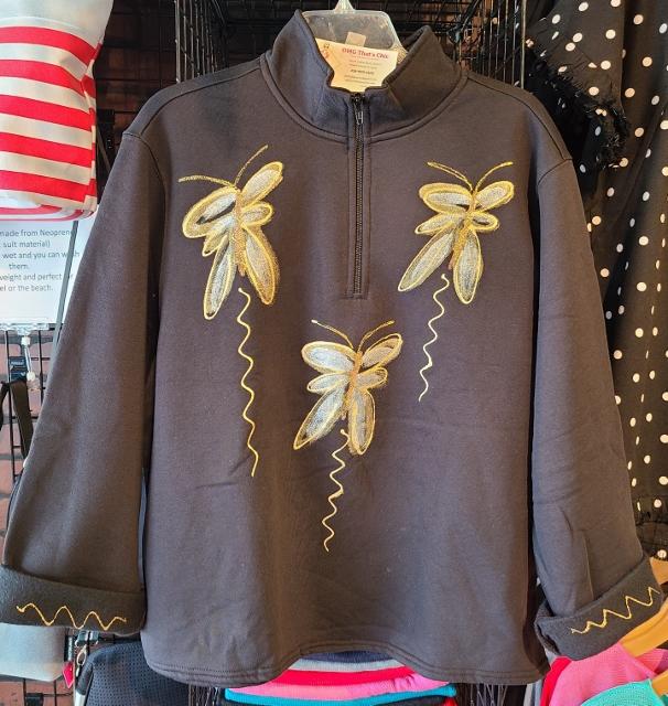 Dragon Fly Zipper Fleece Jacket