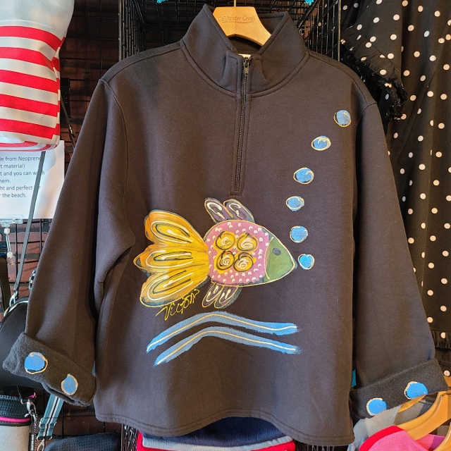 Bubble Fish Zipper Fleece Jacket