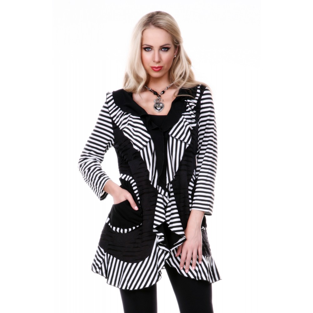 Black and White Light Weight Jacket
