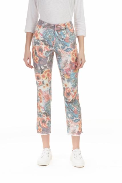 Floral Mango Jeans
