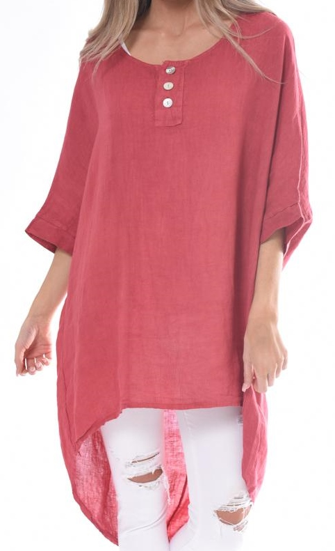 High Low Linen Tunic