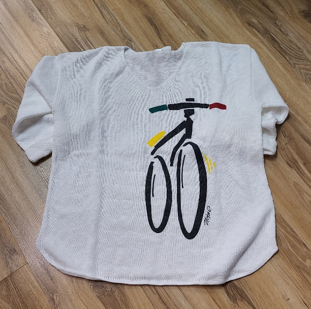 One Size Artsy Painted Bicycle Sweaters