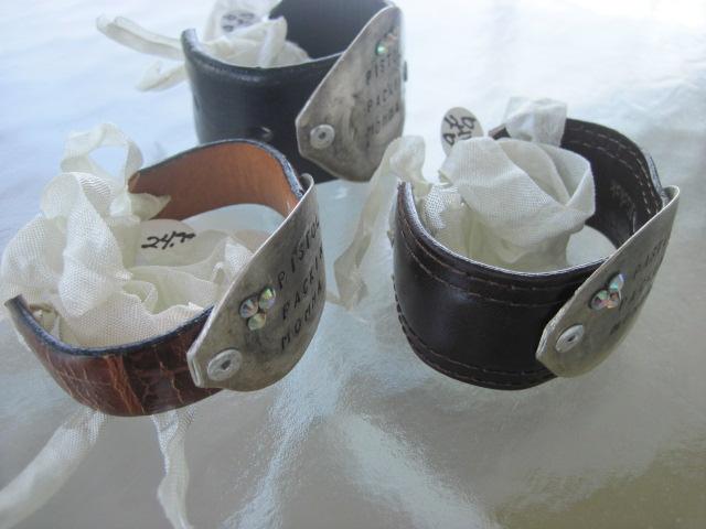 Pistol Packin' Momma Hand Stamped Vintage Spoon/Leather Bracelets
