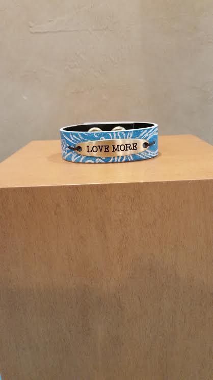 Love More Leather Bracelet
