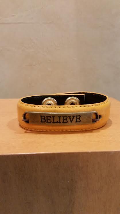 Believe Leather Bracelet