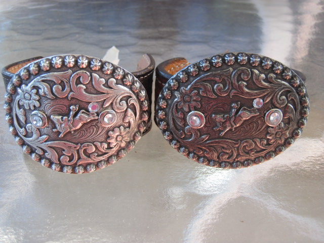 Bucking Bull Belt Buckle Leather Bracelets