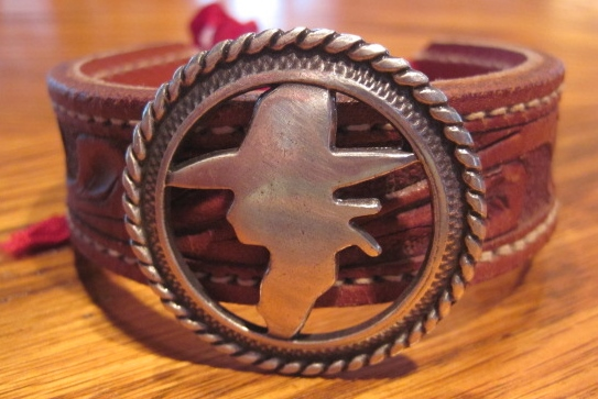 Cowgirl Concho Leather Bracelet or Necklace