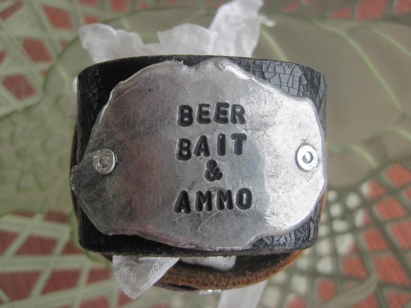 Beer Bait & Ammo Molton Metal Bracelet