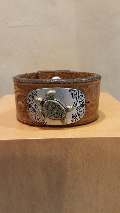 Sea Turtle Leather Bracelet