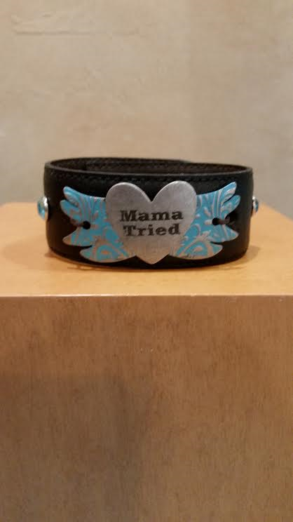 Mama Tried Leather Bracelet