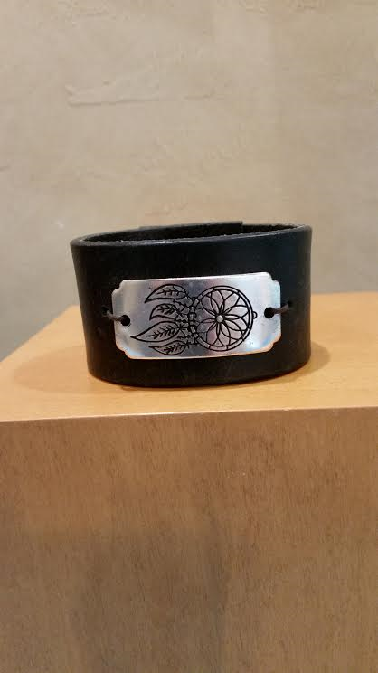 Dream Catcher on Leather Bracelet