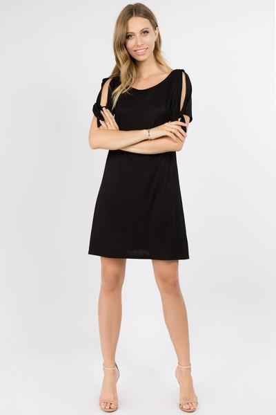 Short Sleeve Tie Dress