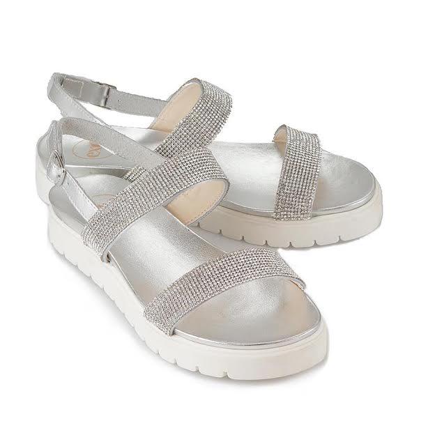 Silver Bling Sandal