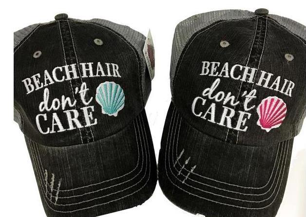 Beach Hair Don't Care Trucker Caps