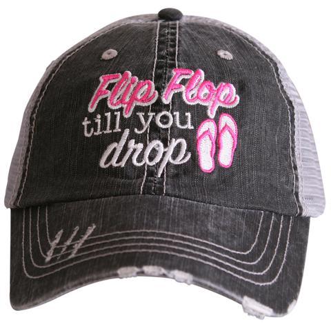 Flip Flop Till You Drop Trucker Caps