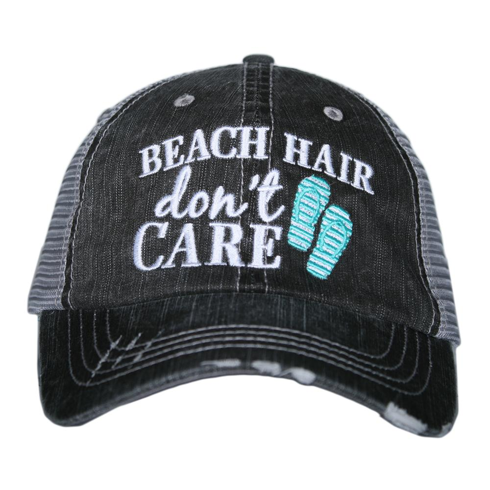 Beach Hair Don't Care (with Flip Flops) Trucker Caps
