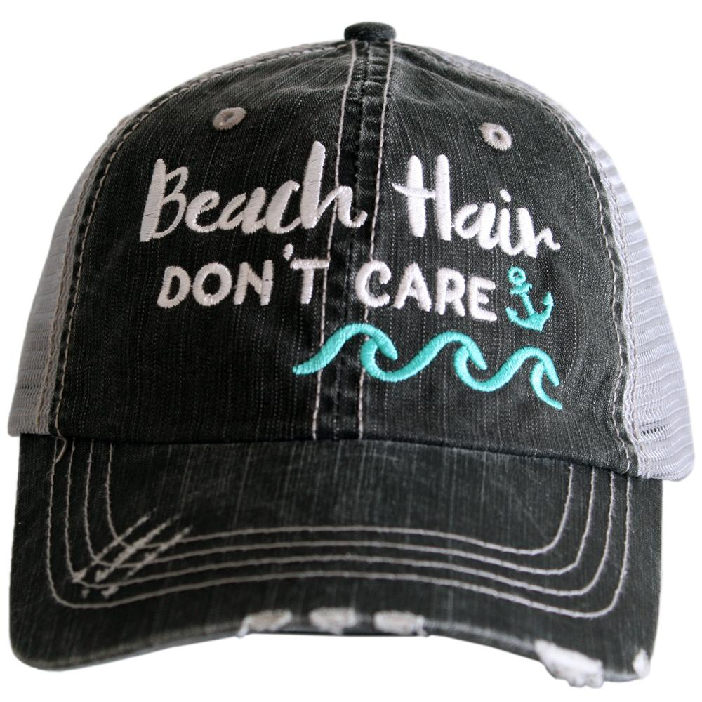 Beach Hair Don't Care (with Waves) Trucker Caps