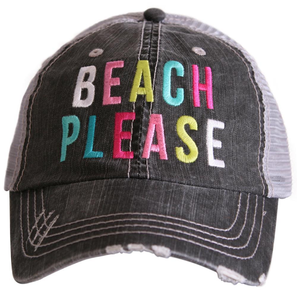 Beach Please Trucker Caps