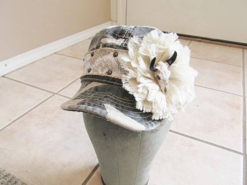 Cow Skull Camo Hat
