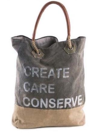 Create, Care, Conserve Handbag
