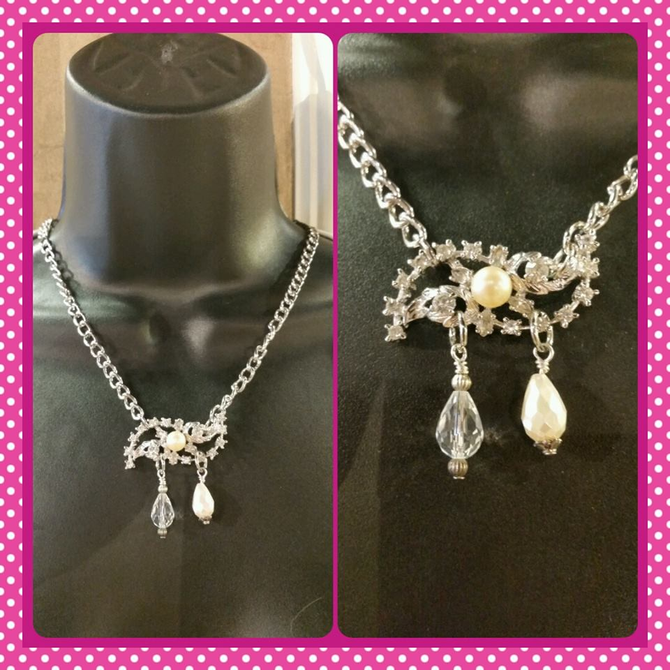 Vintage Broach Necklace