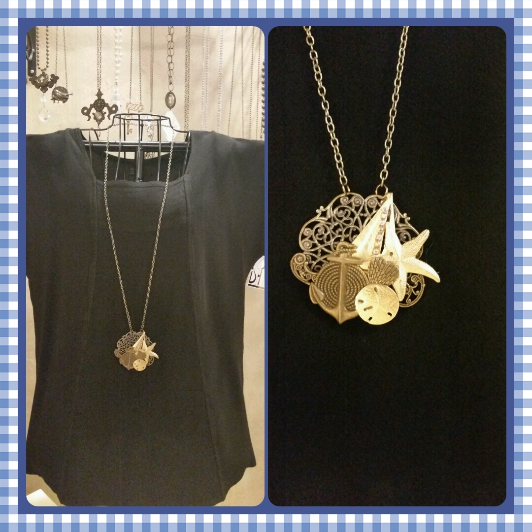 Boat Sealife Broach Necklace