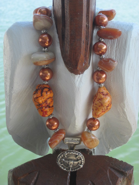 Longhorn Concho Necklace