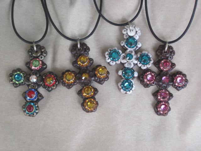 Swarovski Crystal Cross Necklaces