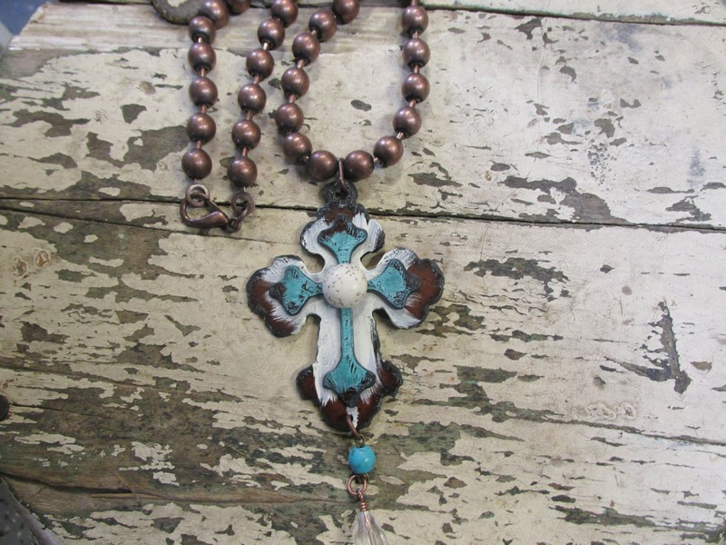 Great Double Stacked Cross Necklace