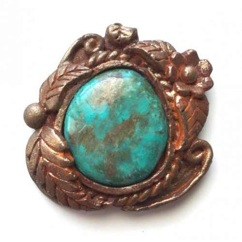 BEAUTIFUL Antiqued Turquoise Tucson Necklace