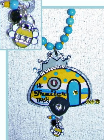 Lil Trailer Trash Travel Trailer Necklace