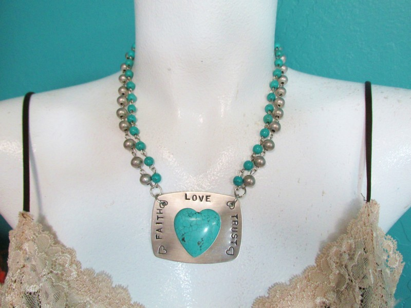 Love Faith Trust Necklace